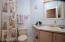 Guest Bathroom Has a Tub/Shower!