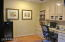Custom built in office and/or library area. Can convert to bedroom if Office is not needed