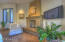 Master Bedroom with wood/gas fireplace