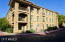 Tucked away from streets, near the back gate.