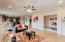 Family room leads into a large office or 5th bedroom equipped with French doors