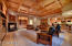 Coffered ceiling embraces the family room