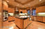 Clean and sleek lines in this great sized kitchen featuring Dacor ovens,