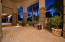 Large patio expanses with built in misting system