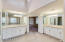 High ceilings with tons of natural light in the master bathroom