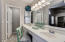 Master bath with private toilet room