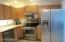Check out the stainless steel appliances