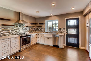 Whirpool Gold appliances, french country cabinets, sparkling granite, country sink - chef's kitchen!