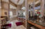 Spacious master bathroom with dual sink/vanities,separate vanity area, jetted tub, separate shower, dual master closets.