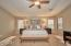 Master bedroom with balcony. Mountain views and sunsets!
