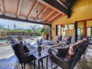 Oversized covered patio is great for relaxing or entertaining