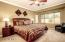 Large master bdrm with bay window