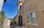 Private gated entry way leading to entrance!