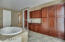Custom built in cabinets and Juliet balcony !
