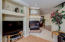 The fireplace is 2 way between living room and family room