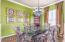 BEAUTIFUL TUSCAN COLOR SCHEME, CROWN MOLDING, WOOD FLOORING, TALL CEILINGS.