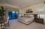 Bedroom 2 w/En-suite, walk-in closet and pool access