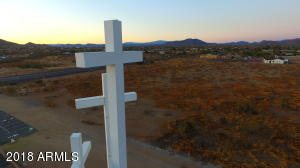 Desert Hills Community Church is adjacent to the property's south property line