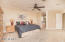Master Bedroom is spacious and thanks to the split floor plan, also private