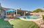 Beautiful backyard with pool and mountain views