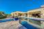 Back yard oasis with saltwater pool and spa.