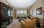 Living room, nice curved window views