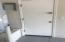 Service door in garage