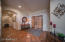 Large and welcoming entry foyer with beautifully maintained saltillo tile