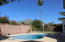 Great yard with views and relaxing swimming pool.