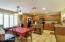 Dine-In Kitchen, Ceramic Floors in Kitchen, Hallways, Baths & Laundry.