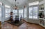 Plantation shutters throughout the house