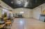 Detached oversized temp controlled garage/studio interior