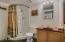 3/4 bath in garage/studio
