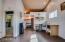 Kitchen nook in area attached to garage/studio