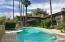 Quiet pool. Mature palms.