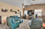 Huge family room opens to kitchen