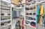 Master closet with closet system