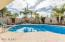 Sparkling Pool Features Spa and Outdoor Shower