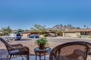 View of Camelback from front patio