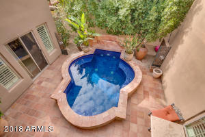 5-ft deep refreshing pool in courtyard