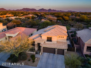 Located overlooking desert open space plus mountain views!