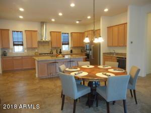 Large maple cabinet kitchen.