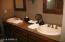 Master bathroom has double sinks
