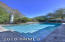 Heated pool for those cold day and nights, surrounded by flagstone!