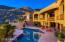 This home boasts panoramic mountain views.