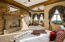 Romantic Cantera fireplace.
