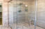 All newly rebuilt double shower with rain shower feature, new fixtures and plumbing, new floor to ceiling tiles
