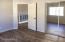Newly painted cool color with new wood floorings, double hung mirrored closet doors; all new hardware on door and closet