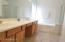 2 sinks, Vanity, Tub, Shower, Private Toilet Room