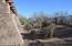 Private natural desert back patio